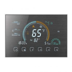 w10 sivo brušeni wifi termostat